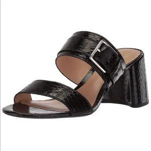 Ralph Lauren Farie Slip-On Sandal Heels, Size 6